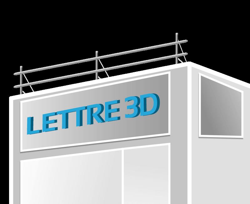 lettrage 3d enseigne publicitaire