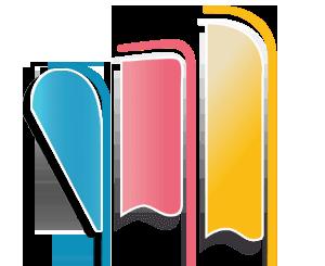 oriflammes imprimés