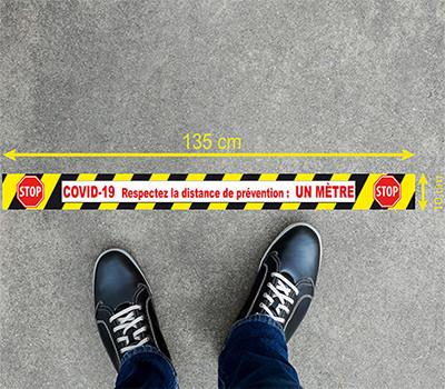 Sticker marquage au sol (Covid-19) antidérapant 135x10cm
